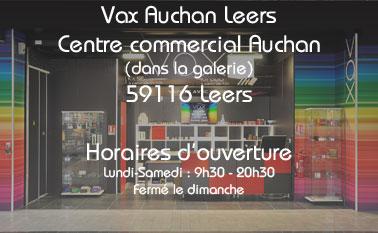 Magasin vax Auchan Leers